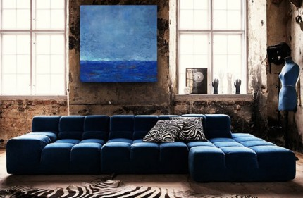 """Blue Seascape"" In situ"