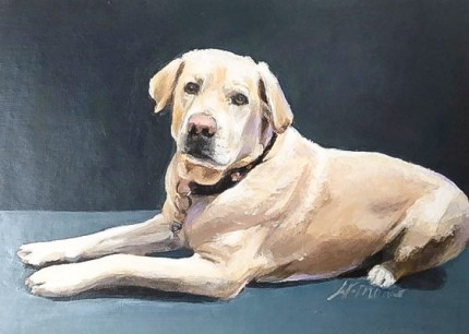 """Lola"" Oil on canvas"