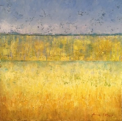 """Spring"" Mixed media on canvas, 36 x 36 x 1.5 inches, Gallery wrap canvas, sides painted, Signed lower right 