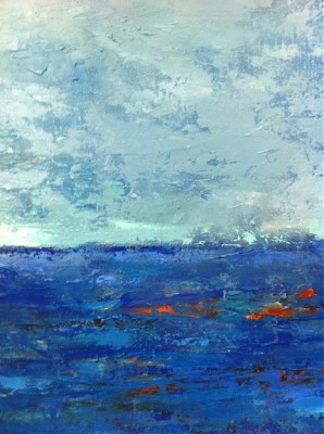 """Blue Seascape"" (detail)"