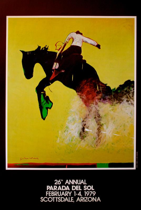 """Fritz Scholder: Parada del Sol"" 26th Annual Parada del Sol, February 1-4, 1979, Scottsdale, Arizona, Limited Edition Poster, 24 x 20 inches"