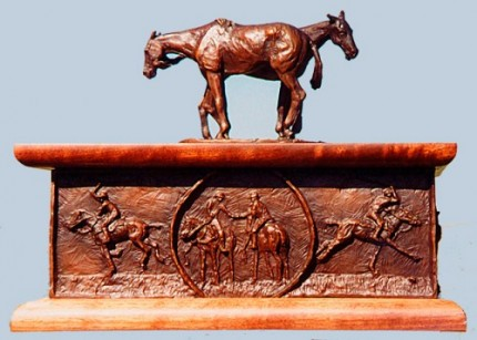 """Polo Box"" Bronze, Edition of 250, 8 x 11 x 9 inches (Top lifts off), Signed & Numbered"