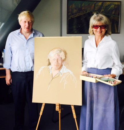 Boris Johnson and Basia Hamilton