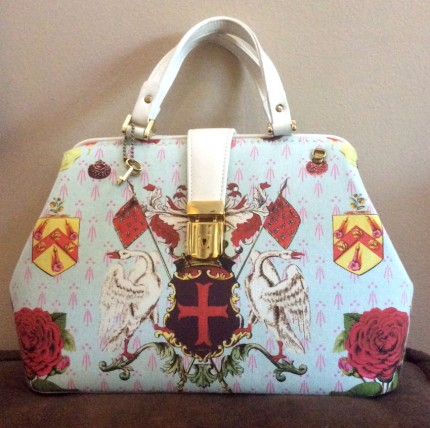 Heraldry Rose Doctor's Bag in Aqua