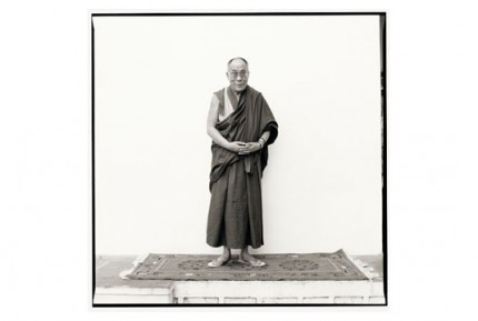 """His Holiness the Dalai Lama at Rato Dratsang"" Gelatin silver print, Edition of 25, Paper size: 50 x 60 cms, Also available in 40 x 50 cms & 76 x 100 cms"