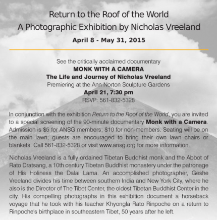 Nicholas Vreeland's Photographic Exhibition at the Ann Norton Sculpture Gardens