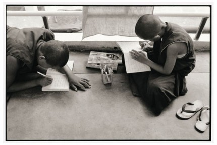 """Rato novices learning to write"" Gelatin silver print, Edition of 25, Paper size: 50 x 60 cms, Also available in 40 x 50 cms & 76 x 100 cms"