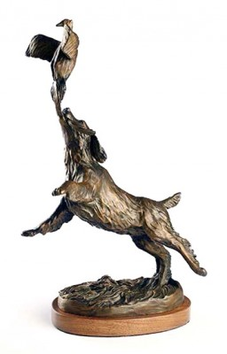 """By the Tail"" (view 2) Bronze, Edition of 35, 15 x 8 x 5.5 inches"