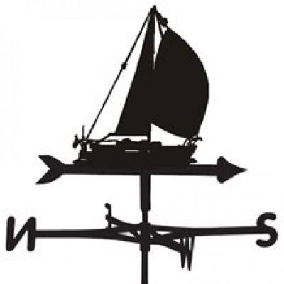 Amber Sailing Yacht Weathervane