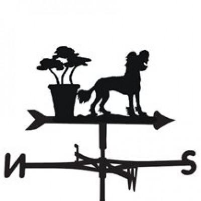 Chinese Crested Dog Weathervane