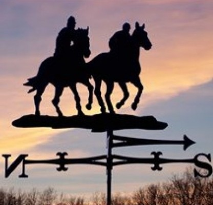 Traditional Two Riders Weathervane
