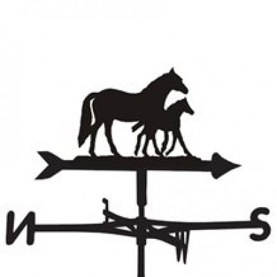 Mare and Foal Horse Weathervane