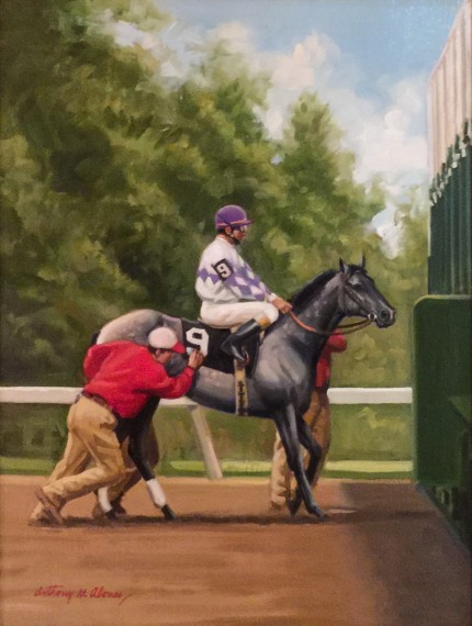 """Last In - First Out"" Oil on canvas, 16 x 12 inches, Signed"