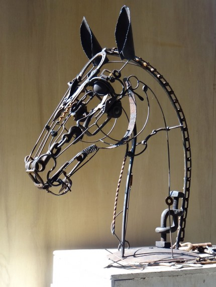 """Artus"" Welded Metal, 38 x 30 x 15 inches, Signed"