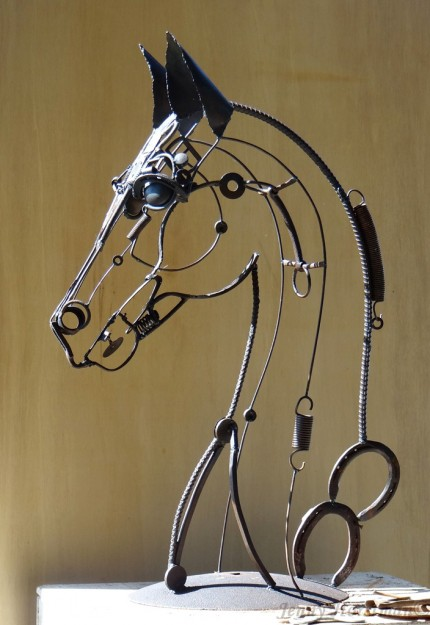 """Arwen"" Welded Metal, 38 x 30 x 15 inches, Signed"