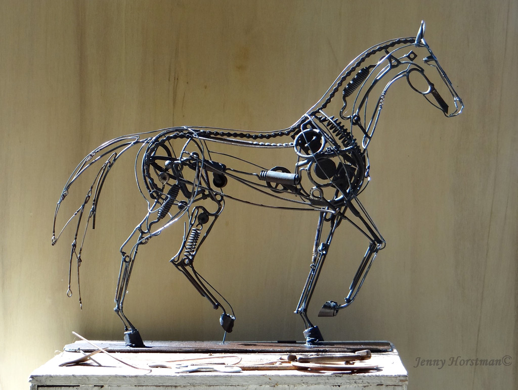 """""""Listen"""" Welded Metal, 32 x 26 x 6 inches, Signed"""