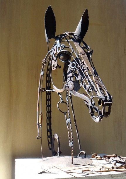 """Wiley"" Welded Metal, 38 x 30 x 15 inches, Signed"