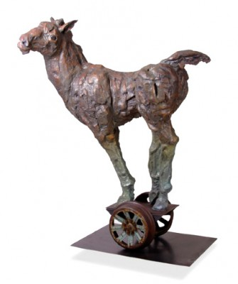 "Giuseppe Palumbo, American Contemporary ""Life Size Rolling Horses"" 2007, Bronze, 104 x 68 x 36 inches"