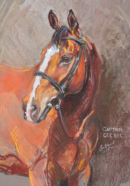 """Racehorse"" Pastel on paper"