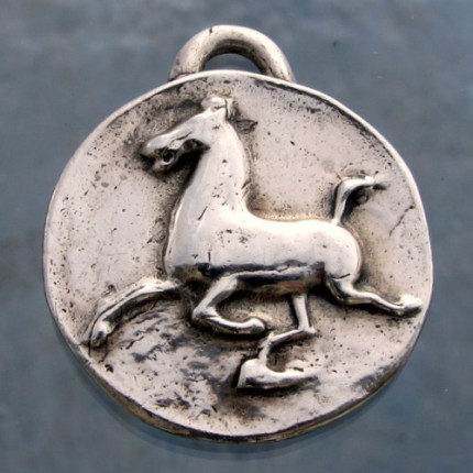 """Han Flying Horse"" 1.25"" Diameter, Price: $199, Chisholm Ref. #: F-EA5 