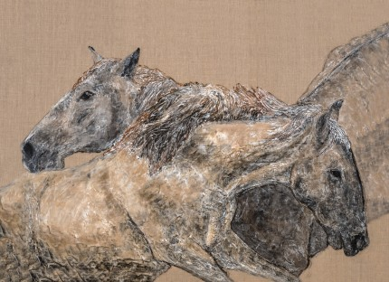 """Best Friends"" Equus Series, Limited Edition print on canvas, 54 x 81 inches, Signed"