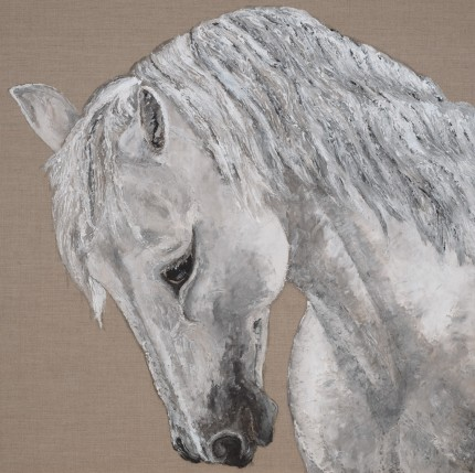 """Herodes do Alentejo"" Equus Series, Limited edition print on canvas, 54 x 54 inches, Signed"