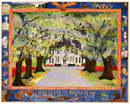 """""""Litchfield Plantation"""" Mixed media on Arches paper, 22 x 30 inches, Signed lower right"""