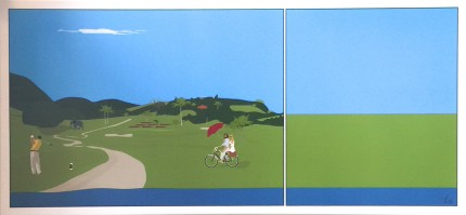 """Taking Alittle Breeze Out"" HD archival pigment print on canvas, 22 x 52 inches, Editions of 99, Signed & Numbered"