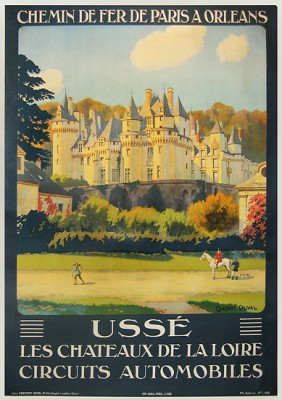 """USSE - CHEMIN DE FER PARIS A ORLEANS"" by Constant Duval, c.1924, 30 x 40 inches (76 x 101 cm) 