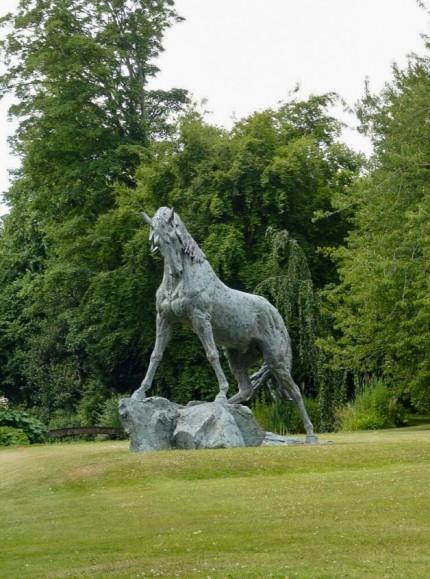 """Andalusian Stallion"" Bronze, Life-size"