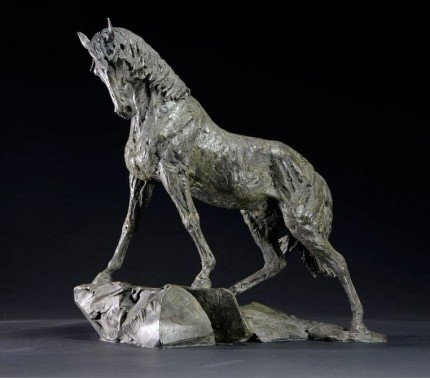 """Andalusian Stallion"" Bronze, Scale 1:7"