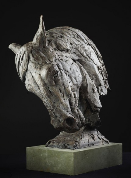 """Horse Head"" (based on Andalusian) Bronze"