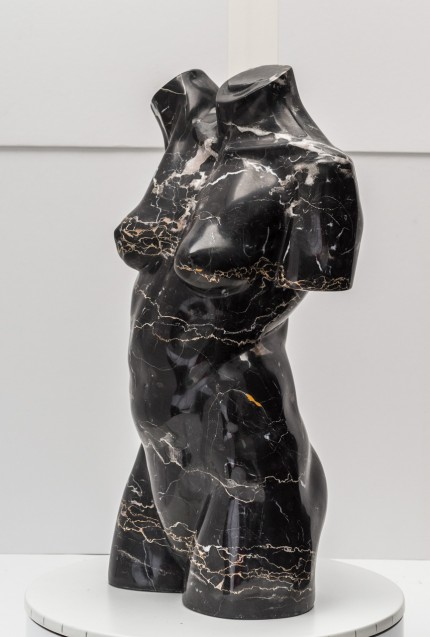 """Nude Torso"" Marble, Signed & Dated"