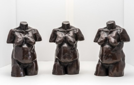 """Nude Torso Trio"" Bronze, Numbered, Signed & Dated"