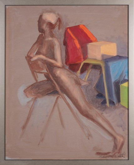 """Figure XIII"" Oil on canvas, Signed"