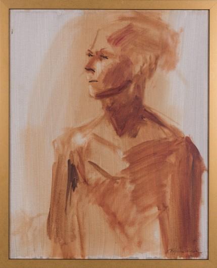 """""""Figure XVIII"""" Oil on canvas, Signed"""