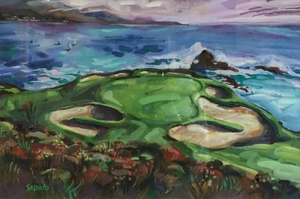 """Pebble Beach #7"" Watercolour on paper, 12 x 18 inches, 20 x 26 inches, Signed lower left"