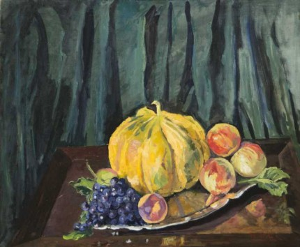 """Still Life Fruit"" c. 1930, Oil on canvas, 25 x 30 inches"