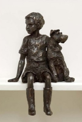 """""""Companions"""" Jack Russell, Bronze resin, 12 x 18 x 6 inches"""