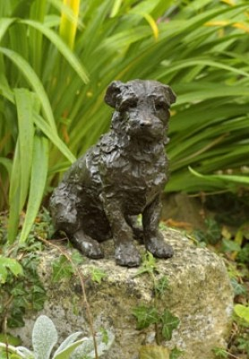 """""""Harvey"""" Jack Russell, Bronze resin, 8 x 7.5 x 3.5 inches"""