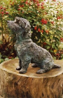 """""""Sam"""" Jack Russell, Bronze resin, undefined"""
