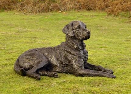 """""""Saxon"""" Labrador, Bronze resin, 18 x 33 x 20 inches"""