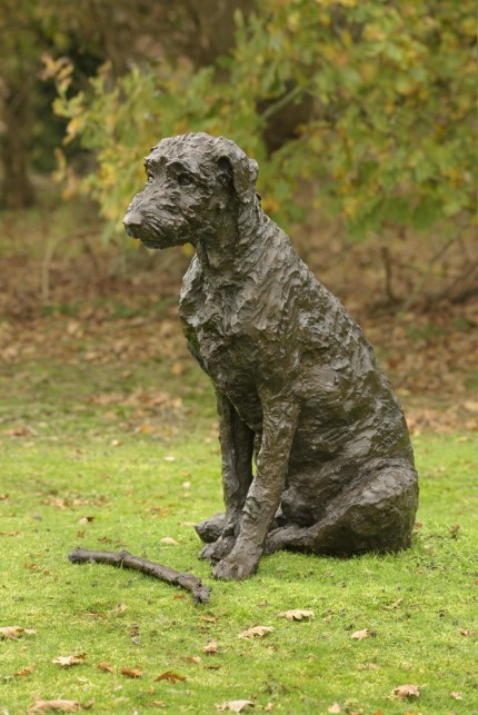 """""""Harry"""" Wolfhound, Bronze resin, 32 x 18 x 24 inches"""