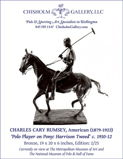 """Charles Cary Rumsey """"Polo Player on Pony: Harrison Tweed"""""""
