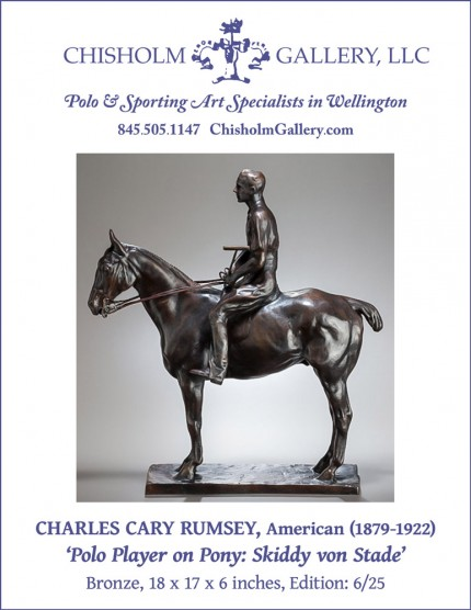 """Charles Cary Rumsey """"Polo Player on Pony: Skiddy von Stade"""""""