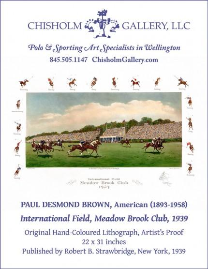 """Paul Desmond Brown """"International Field, Meadow Brook Club, 1939"""""""