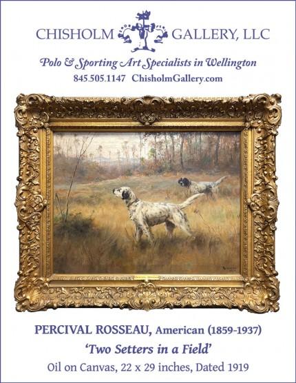 """Percival Rosseau """"Two Setters in a Field"""""""