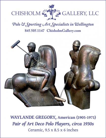 """Waylande Gregory """"Pair of Art Deco Polo Players"""""""