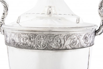 """George III Presentation Trophy by Henry Chawncer, c. 1790"" Sterling Silver, 22 x 13.5 inches, 91.81 oz 