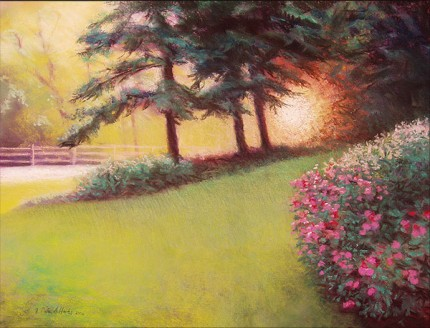 """""""After The Rain"""" Pastel on paper, 18 x 24 inches, Signed F. Pieter Lefferts 2006, Sudden Skies series"""